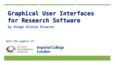 """""""Graphical user interfaces for Research Software"""""""