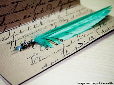 Image of parchment and quill