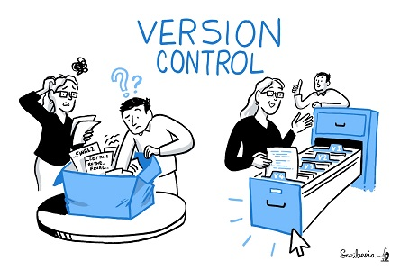 version control cartoon