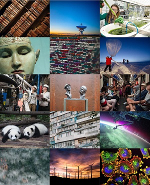 Collage of travel images