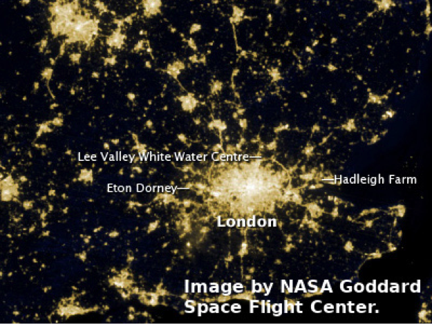 Nasa picture of London