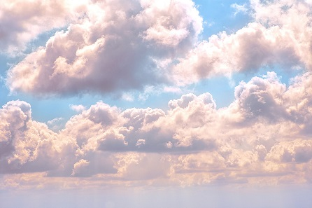 pink cloud formations