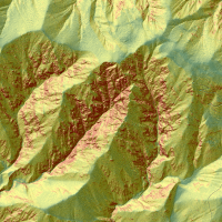 Topography of land