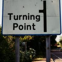 Road sign that says turning point