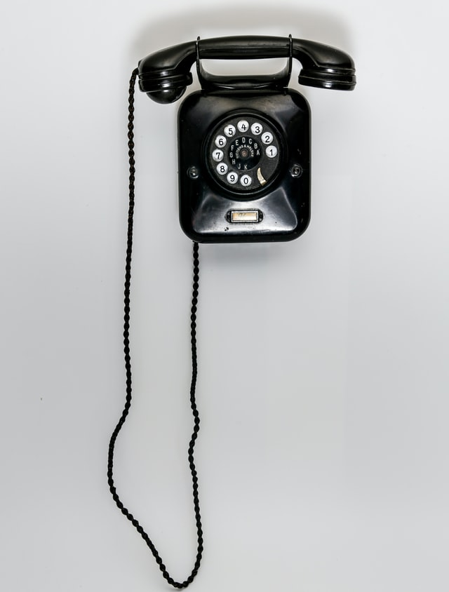 Photo of old telephone